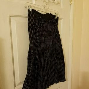 CHARLOTTE RUSSE POKA DOT BLACK COCKTAIL DRESS